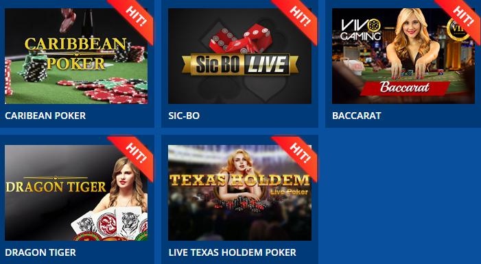 Играйте в «Live-казино» на официальном сайте!